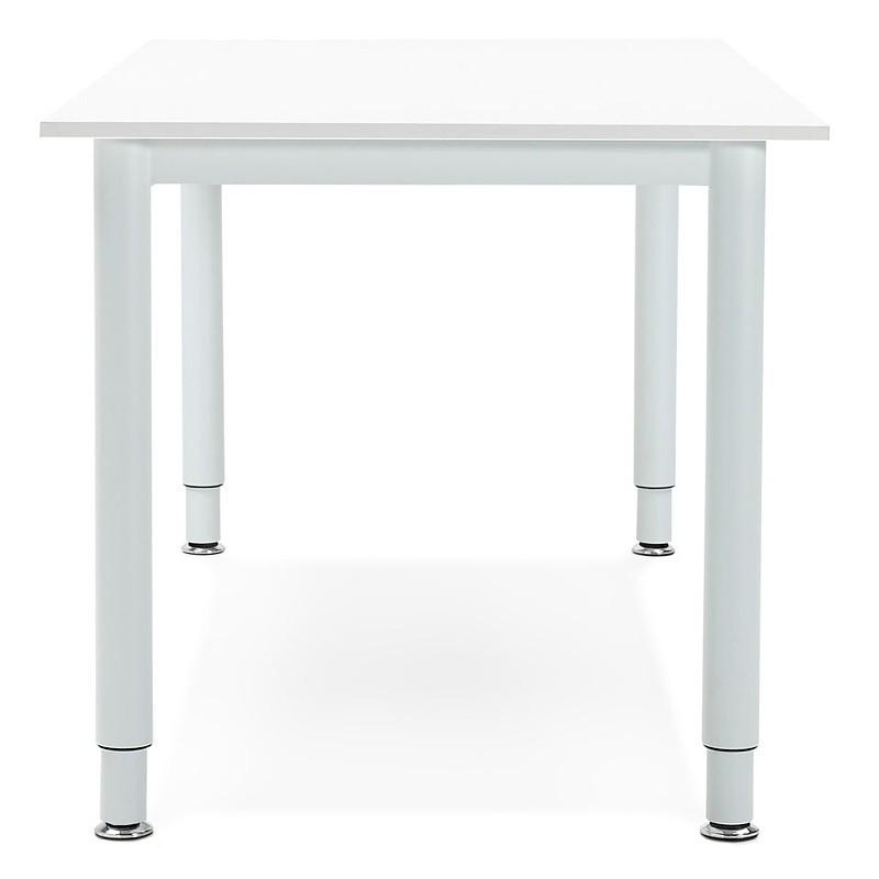 Bureau table de réunion moderne (80x160 cm) LORENZO en bois (blanc) - image 40158