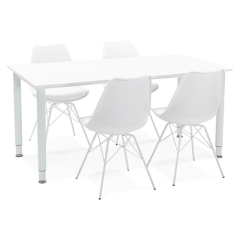 Bureau table de réunion moderne (80x160 cm) LORENZO en bois (blanc) - image 40168