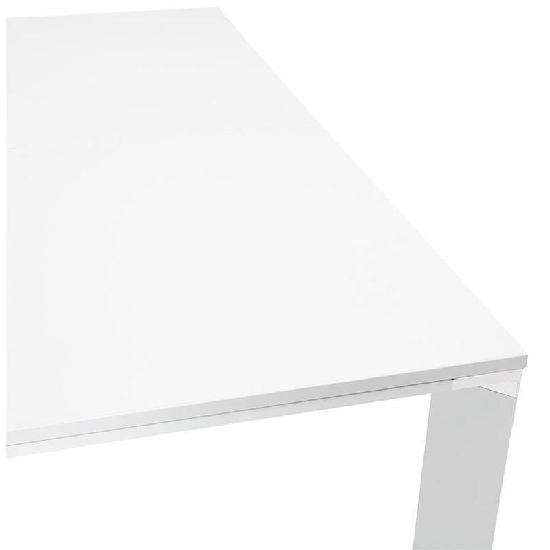 Bureau table de réunion moderne (140x140 cm) RICARDO en bois (blanc) - image 40193