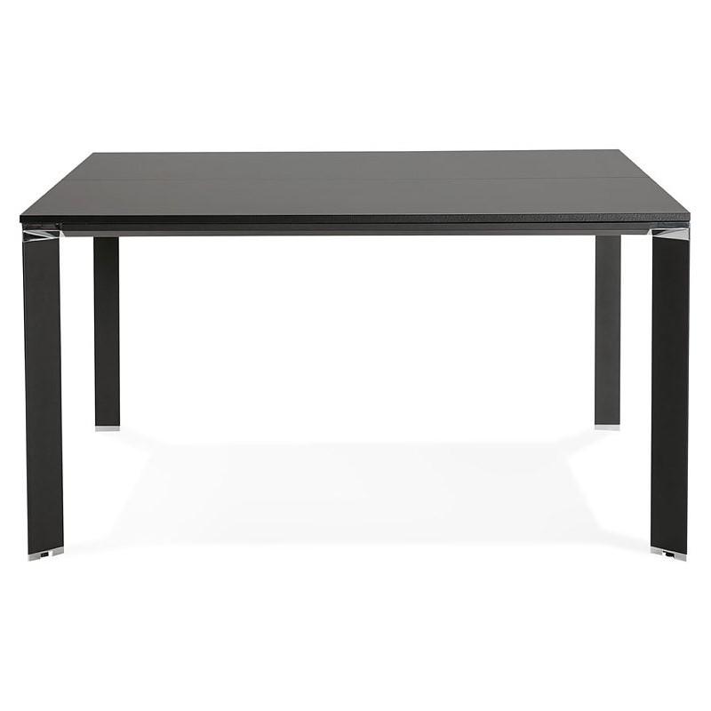 Bureau table de réunion moderne (140x140 cm) RICARDO en bois (noir) - image 40203