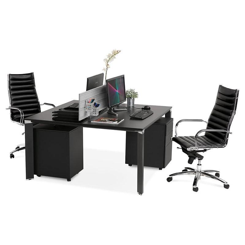 Bureau table de réunion moderne (140x140 cm) RICARDO en bois (noir) - image 40212