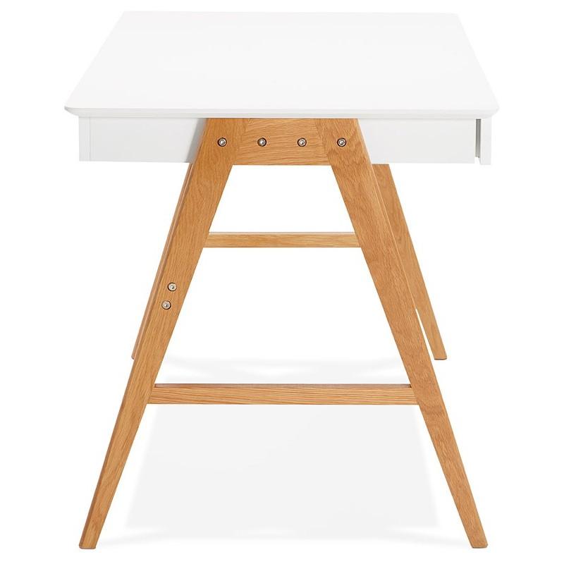Rechts skandinavischen ELOISE Schreibtisch aus Holz (Matt White)