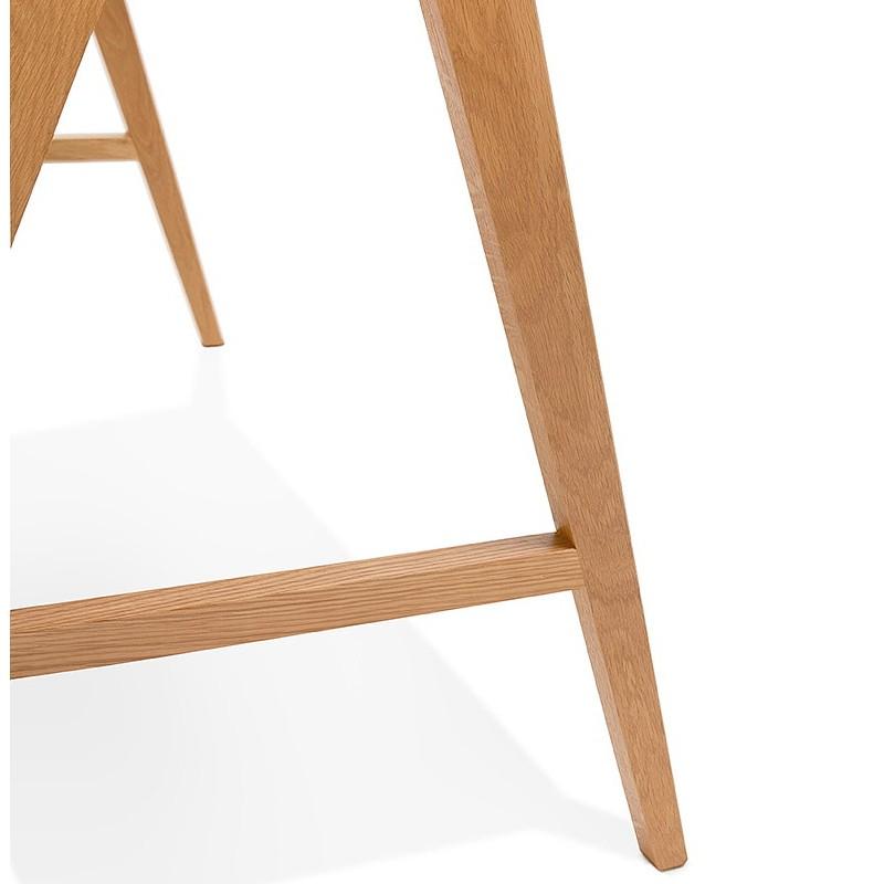 Bureau droit scandinave ELOISE en bois (blanc mat) - image 40224