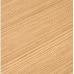 Bureau droit design BOUNY en bois pieds blanc (160 X 80 cm) (naturel)