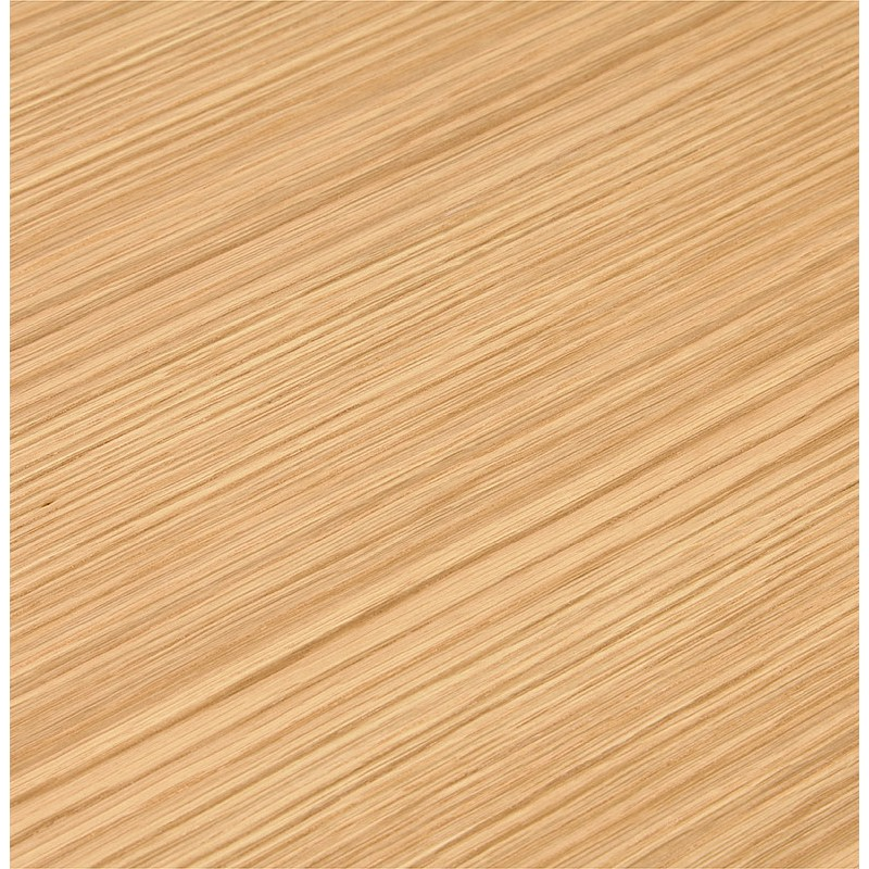 Bureau droit design BOUNY en bois pieds blanc (naturel) - image 40233
