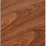 Bureau droit design BOUNY en bois pieds blanc (160 X 80 cm) (noyer)