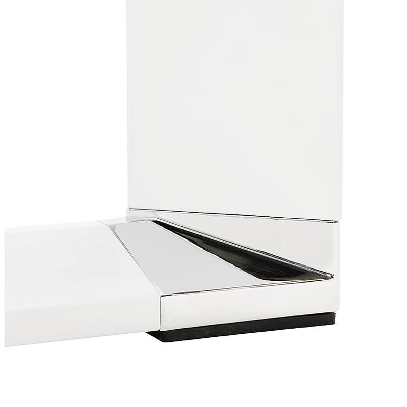 Bureau droit design BOUNY en bois pieds blanc (noyer) - image 40240