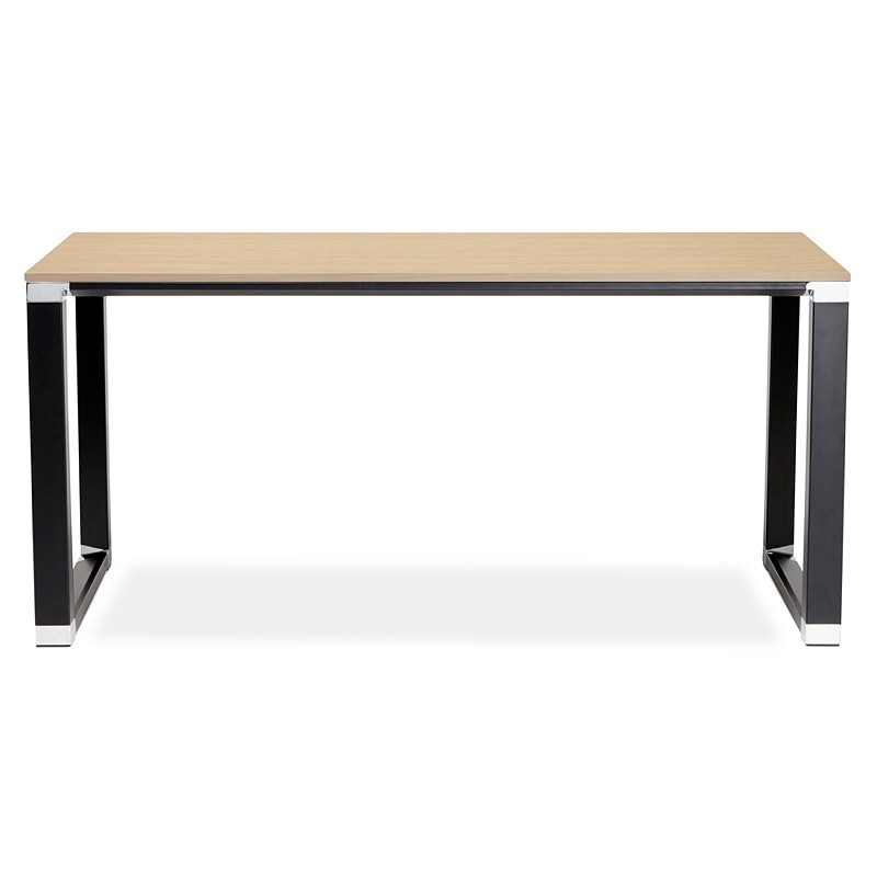 Oficina diseño marca negro pies en madera (natural) a la derecha (160 X 80 cm) - image 40244