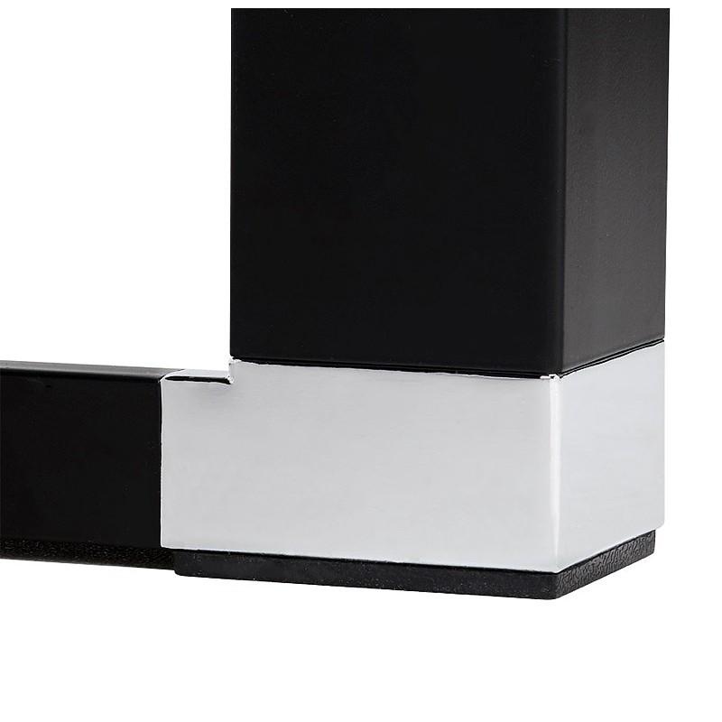 Bureau d'angle design CORPORATE en bois pieds noirs (naturel) - image 40271