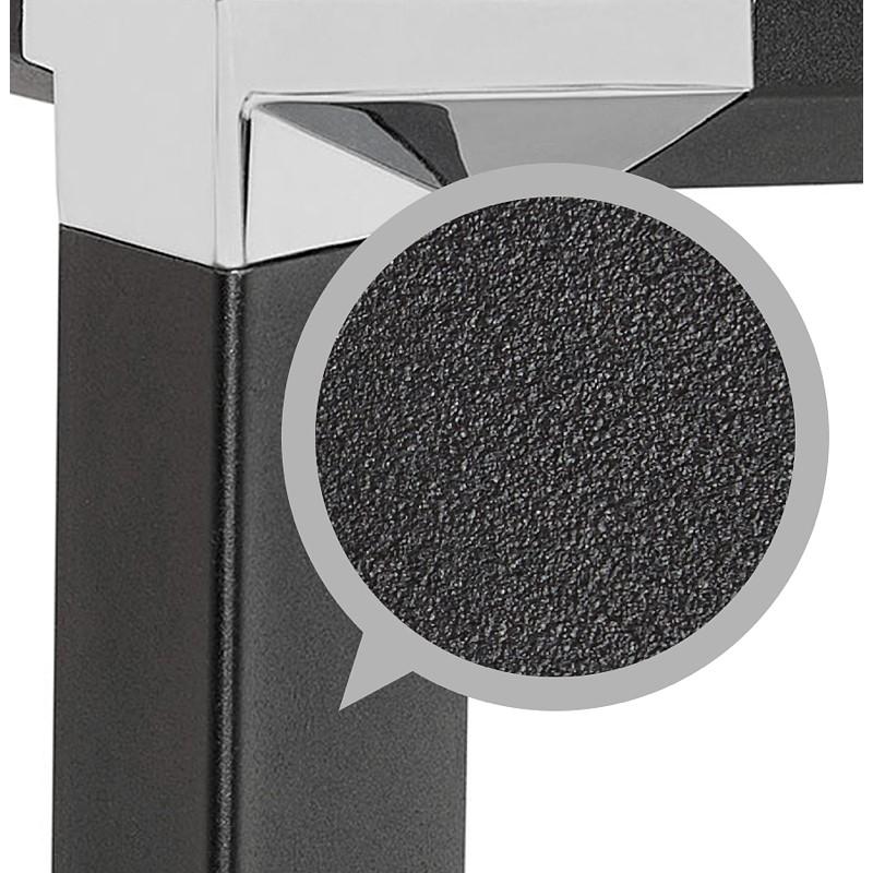 Bureau d'angle design CORPORATE en bois pieds noirs (finition noyer) - image 40278
