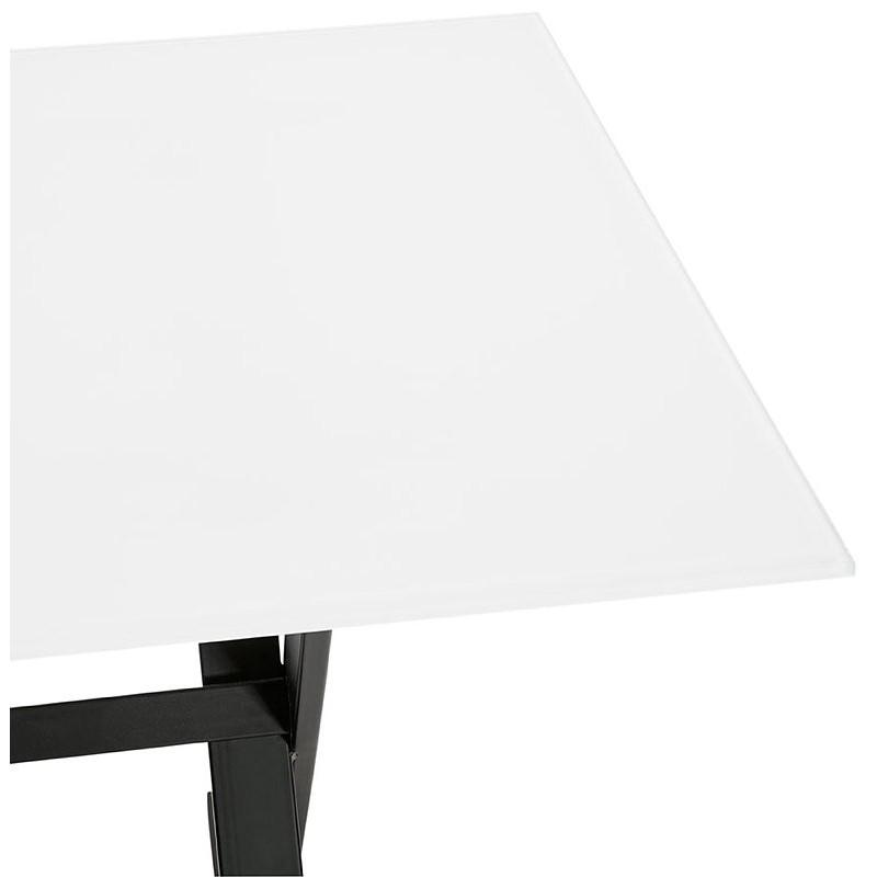 Table à manger design ou bureau (160x80 cm) WENDY en verre (blanc) - image 40291