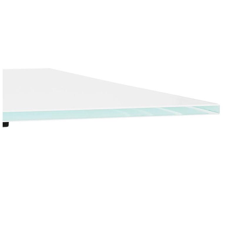 Table à manger design ou bureau (160x80 cm) WENDY en verre (blanc) - image 40292