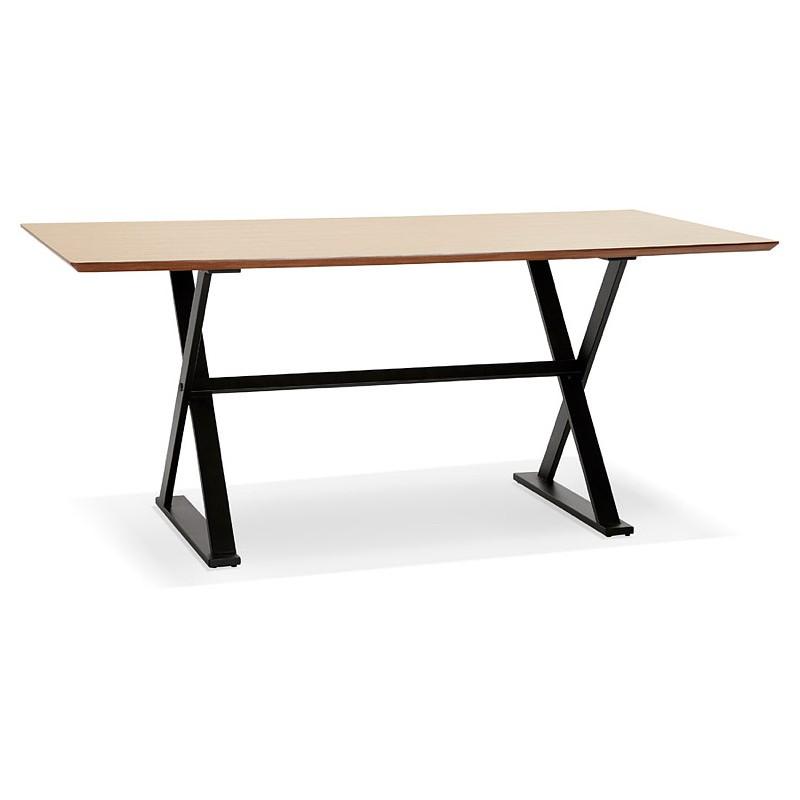 Table à manger design ou bureau (180x90 cm) FOSTINE en bois (naturel)