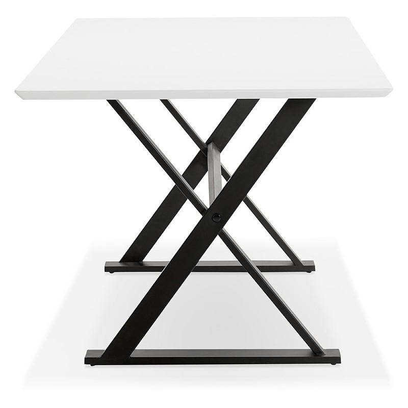 Table à manger design ou bureau (180x90 cm) FOSTINE en bois (blanc mat) - image 40308