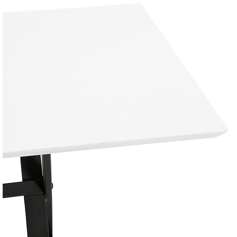 Table à manger design ou bureau (180x90 cm) FOSTINE en bois (blanc mat) - image 40310