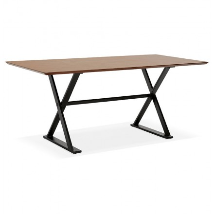 Table design or office (180 x 90 cm) FOSTINE wooden (Walnut Finish)