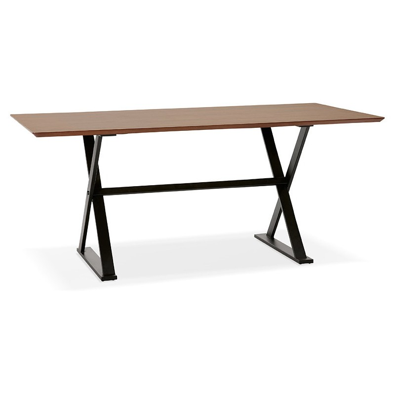 Tisch-Design oder im Büro (180 x 90 cm) FOSTINE aus Holz (Walnuss Finish) - image 40329