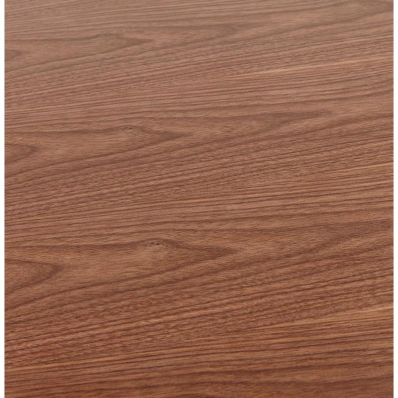 Tisch-Design oder im Büro (180 x 90 cm) FOSTINE aus Holz (Walnuss Finish) - image 40332