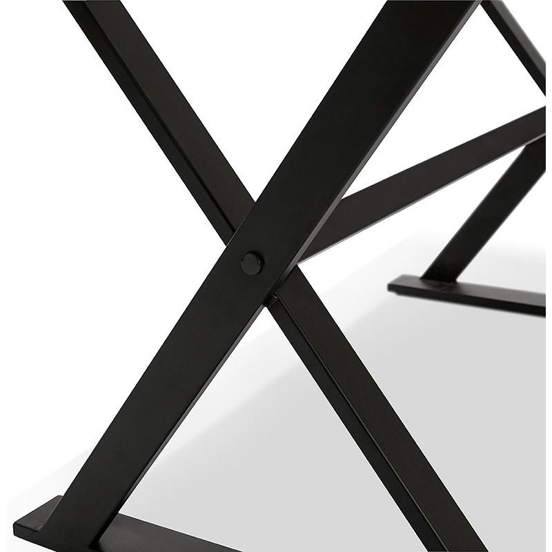 Tisch-Design oder im Büro (180 x 90 cm) FOSTINE aus Holz (Walnuss Finish) - image 40333