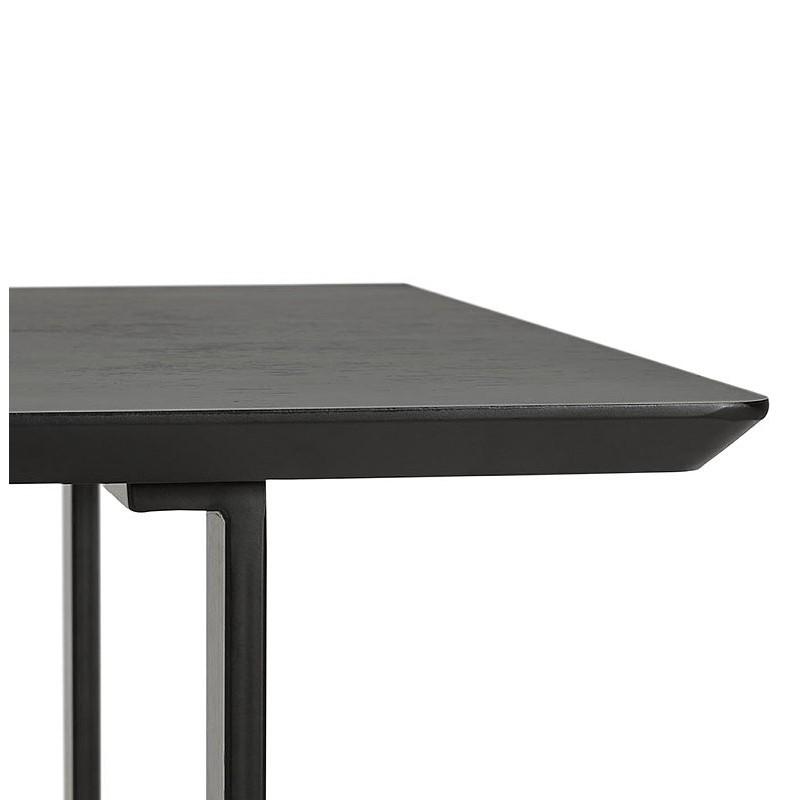 Table à manger design ou bureau (150x70 cm) ESTEL en bois (noir) - image 40342