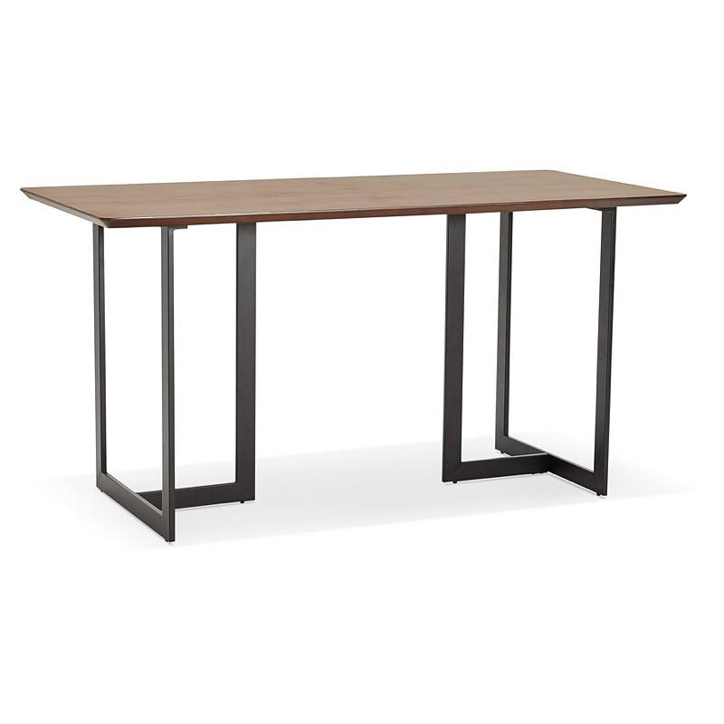 Design Tisch oder Büro (150 x 70 cm) ESTEL Holz (Walnuss Finish)