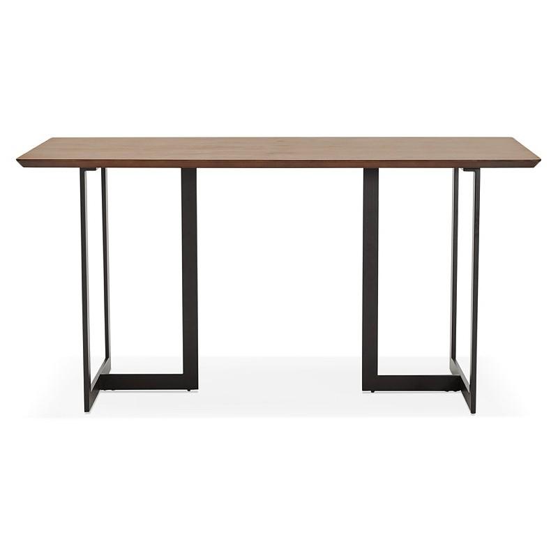 Table à manger design ou bureau (150x70 cm) ESTEL en bois (finition noyer) - image 40356