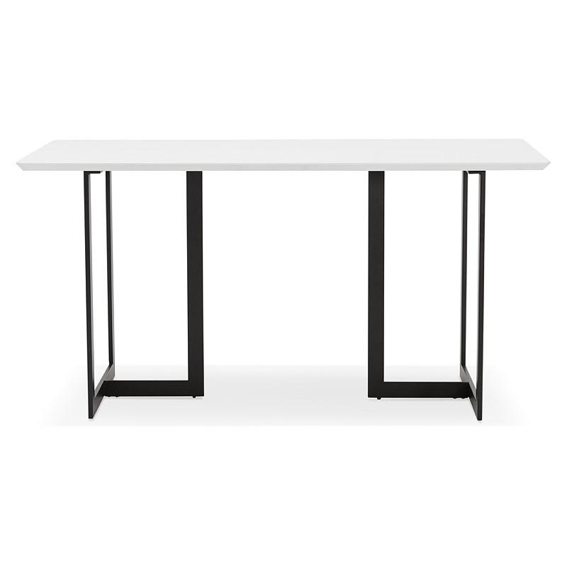 Table à manger design ou bureau (150x70 cm) ESTEL en bois (blanc mat) - image 40366