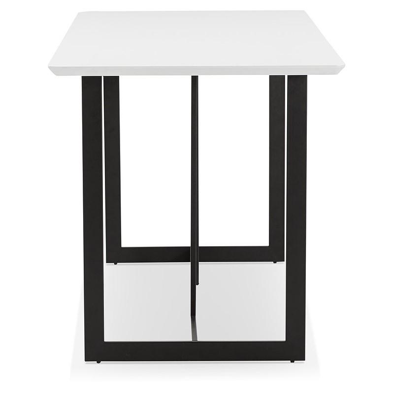 Table à manger design ou bureau (150x70 cm) ESTEL en bois (blanc mat) - image 40367