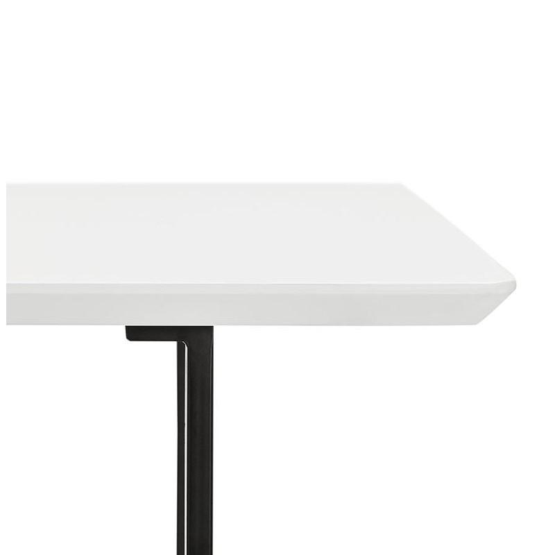 Table à manger design ou bureau (150x70 cm) ESTEL en bois (blanc mat) - image 40371