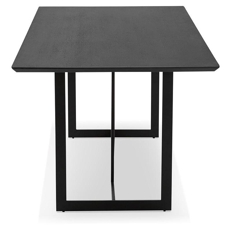 Table à manger design ou bureau (180x90 cm) DRISS en bois (noir) - image 40377
