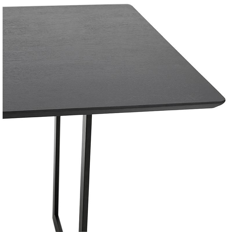 Table à manger design ou bureau (180x90 cm) DRISS en bois (noir) - image 40379