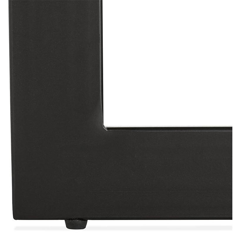 Table à manger design ou bureau (180x90 cm) DRISS en bois (noir) - image 40384