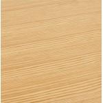 Table à manger design ou bureau (180x90 cm) DRISS en bois (naturel)