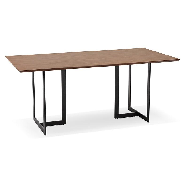 Table à manger design ou bureau (180x90 cm) DRISS en bois (finition noyer) - image 40395