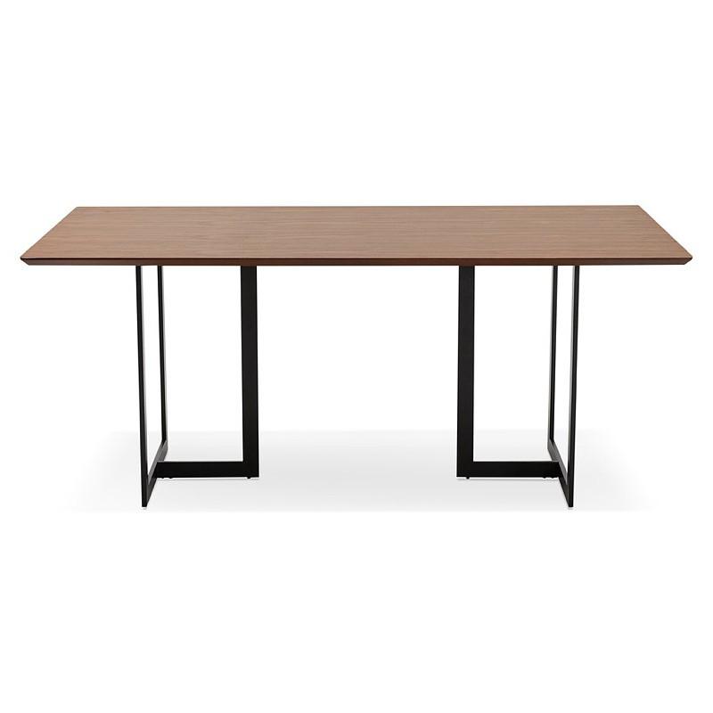 Table à manger design ou bureau (180x90 cm) DRISS en bois (finition noyer) - image 40396