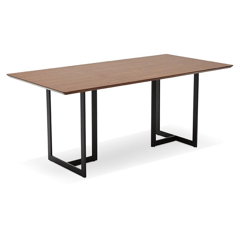 Table à manger design ou bureau (180x90 cm) DRISS en bois (finition noyer) - image 40398