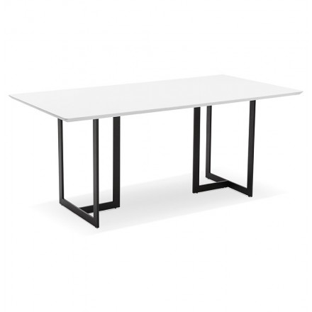 Dining table design or (180 x 90 cm) Douglas wooden desk (Matt White)