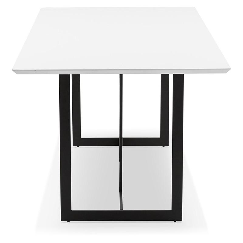 Table à manger design ou bureau (180x90 cm) DRISS en bois (blanc mat) - image 40407
