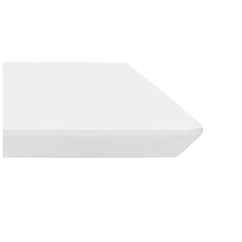 Table à manger design ou bureau (180x90 cm) DRISS en bois (blanc mat) - image 40410
