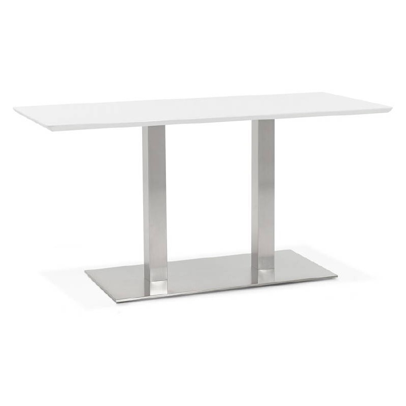 Table à manger design ou table de réunion CORALIE (150x70x75 cm) (blanc) - image 40415