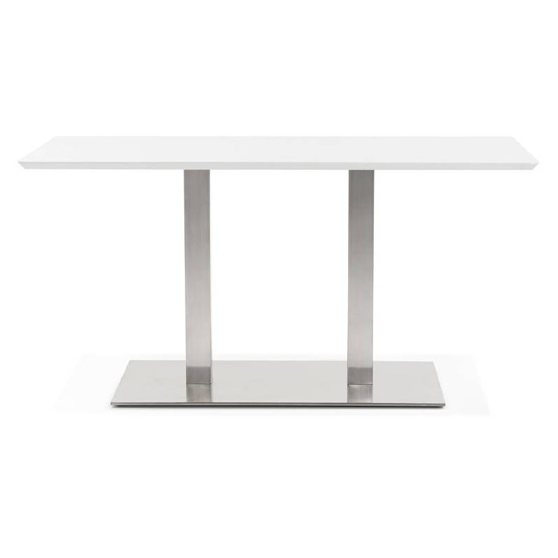 Table à manger design ou table de réunion CORALIE (150x70x75 cm) (blanc) - image 40416