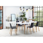 Buffet enfilade design style scandinave 2 portes KARL en bois (blanc mat)