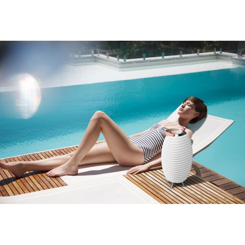 Lampe LED seau à champagne haut-parleur enceinte bluetooth KOODUU SYNERGIE 50 (blanc) - image 40453