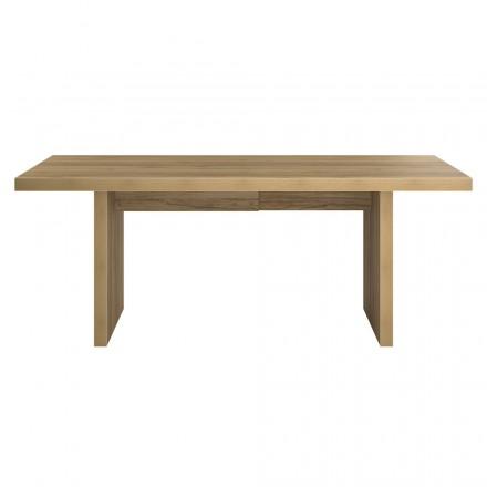 Sala da pranzo di legno, tabella contemporanea ALISON (200 x 92 x 78 cm) (rovere)