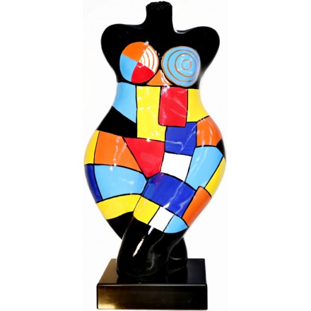 Statue sculpture décorative design DEESSE POP ART en résine H63 cm (multicolore)
