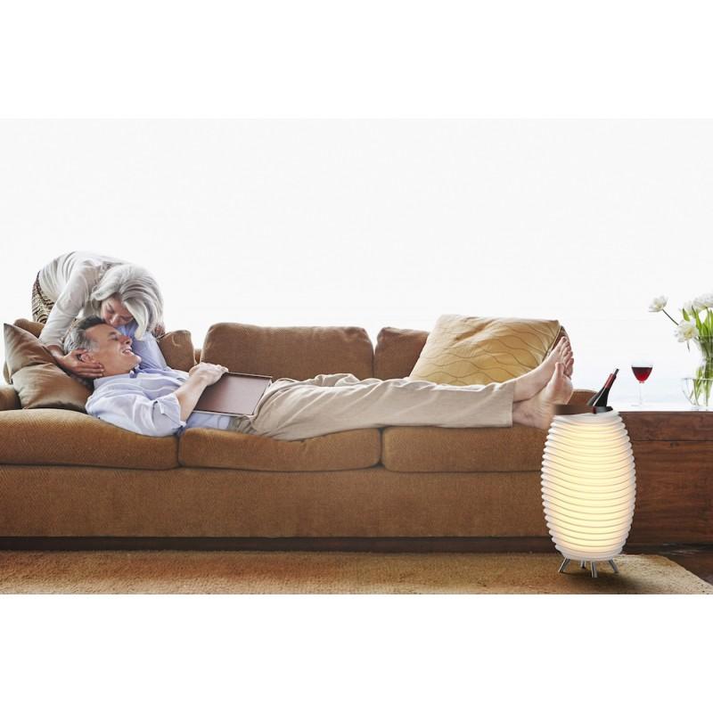 Lampe LED seau à champagne haut-parleur enceinte bluetooth KOODUU SYNERGIE S 35 (blanc) - image 40954