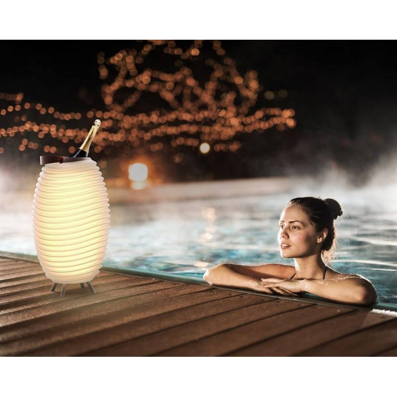 Lampe LED seau à champagne haut-parleur enceinte bluetooth KOODUU SYNERGIE 50 (blanc) - image 40959