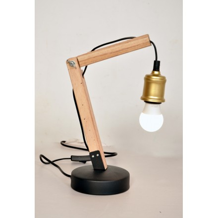 Industrial architect HARRY (brass) table lamp