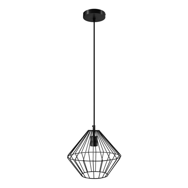 Lampe à suspension industriel H 37 cm Ø 29 cm YOURRY (noir) - image 40997