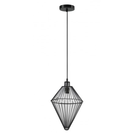 H 52 cm Ø 32 cm SACHA (black) industrial hanging lamp